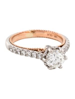 14K Round Brilliant Diamond Engagement Ring