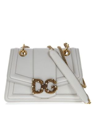 Dolce & Gabbana Dg Amore White Leather Bag