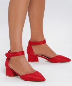 Pantofi cu toc Points Rosii