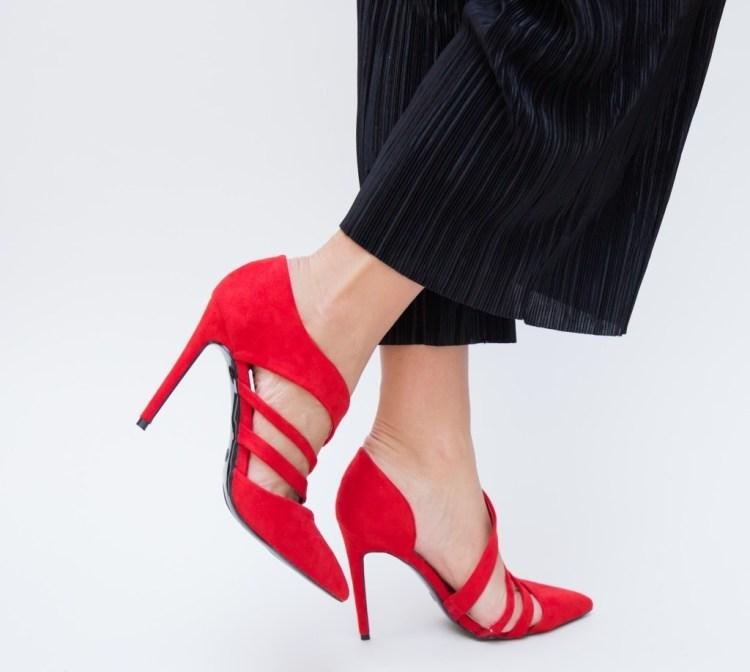 Pantofi Sonday Rosii