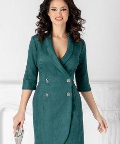Rochie Ilona verde stil sacou