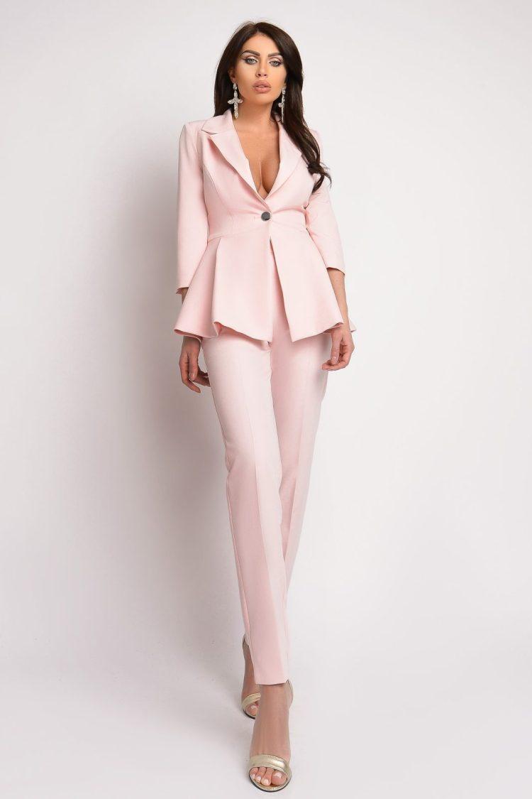Compleu dama elegant 2 piese rose Atmosphere