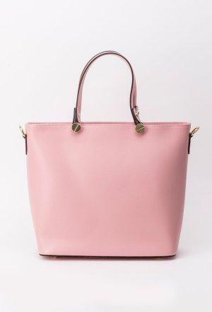 Geanta dama rosa office din piele naturala cu manere scurte