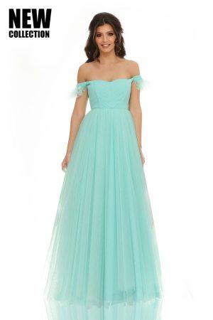 Rochie lungă tip corset cu două straturi de tull