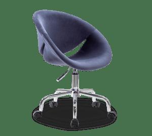 Scaun de birou pentru copii tapitat cu stofa Relax Navy Blue