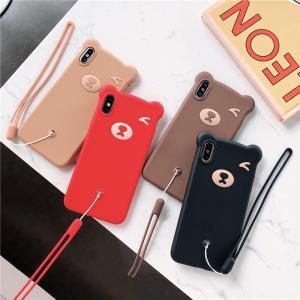 Carcasă pentru telefon draguță tip ursuleț pentru iPhone
