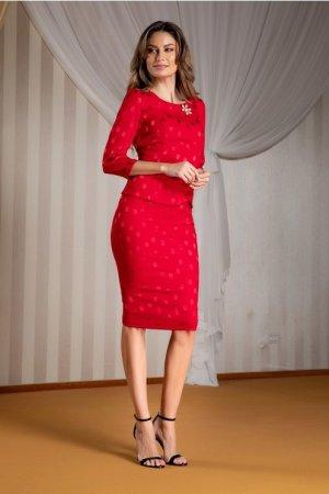 Compleu dama rosu elegant
