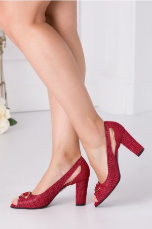 Pantofi bordo eleganti