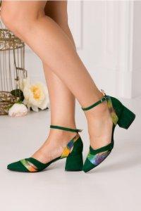 Pantofi cu toc din piele intoarsa
