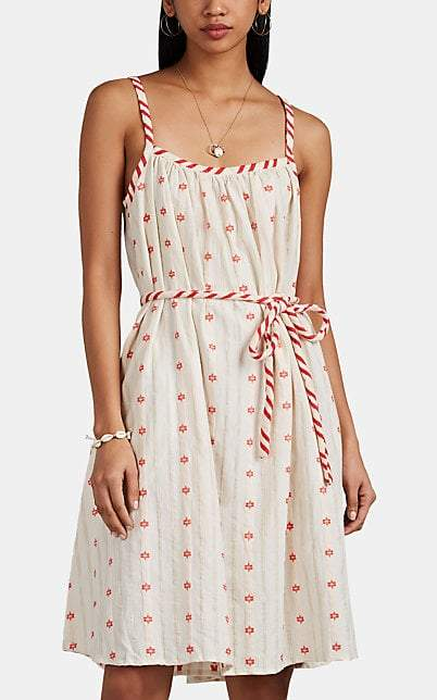 Rochie de lux de zi cu imprimeu alb si rosu