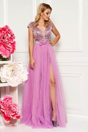 Rochie de ocazie lunga eleganta lila