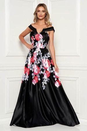Rochie de seara lunga eleganta cu imprimeu