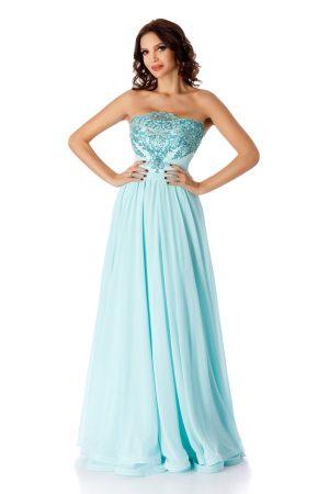Rochie de seara lunga eleganta din voal
