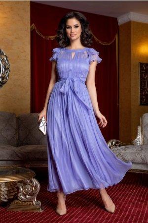 Rochie de seara midi eleganta cu cordon in talie