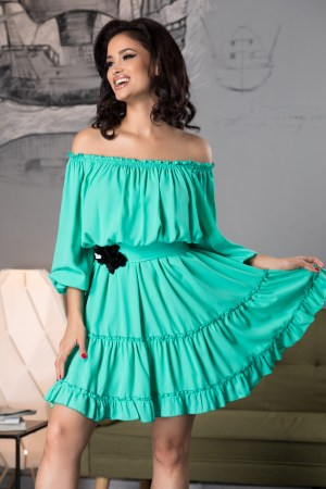 Rochie de zi scurta din voal