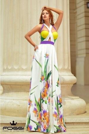Rochie lunga eleganta vaporoasa