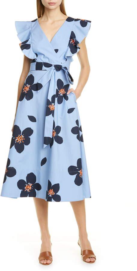 Rochie midi cu imprimeu floral Kate Spade