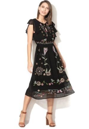 Rochie de ocazie cu flori brodate