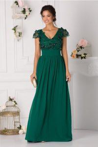 Rochie de seara verde lunga eleganta
