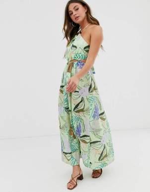 Rochie de zi maxi cu imprimeu tropical