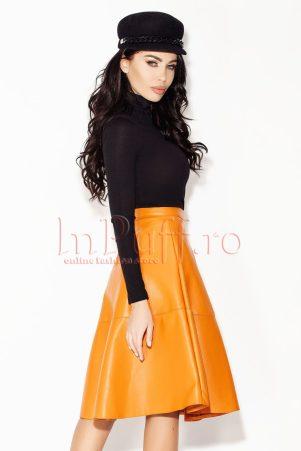 fusta-orange-midi-din-piele-ecologica