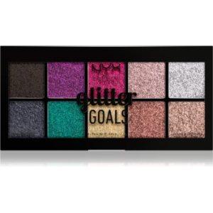 NYX Professional Makeup Glitter Goals paletă cu farduri cu sclipici