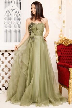 Rochie de seara lunga eleganta din tulle tip printesa
