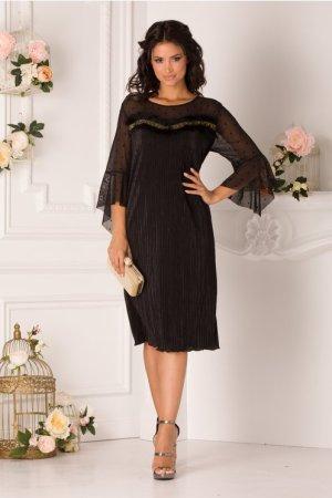 Rochie de seara si de ocazie eleganta din material plisat