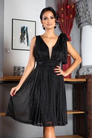 Rochie de Ocazie Eleganta Neagra cu efect stralucitor