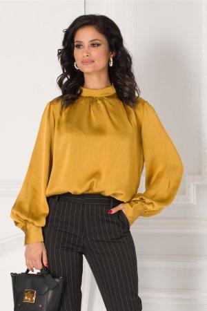 Bluza galben mustar eleganta
