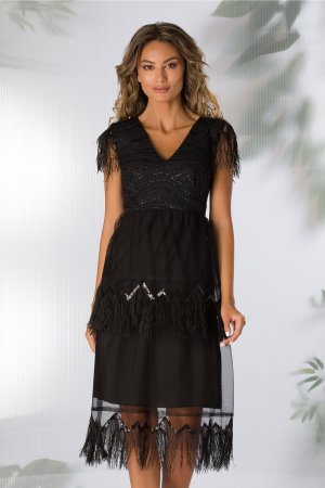 Rochie eleganta de ocazie decolteu in V si bustul din material elastic