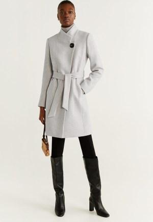 Palton dama din amestec de lana