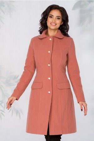 Palton roz inchis cu nasturi perlati