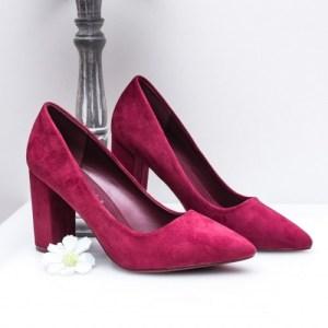 Pantofi dama cu toc visinii