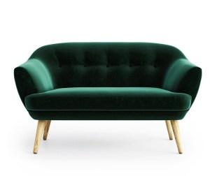 Canapea living verde inchis 2 locuri Elsa Riviera