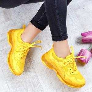 Pantofi dama sport galbeni