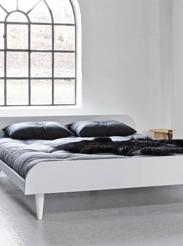 Pat dormitor alb Twist 160x200 cm