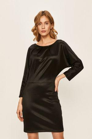 Rochie de seara neagra eleganta scurta croi drept