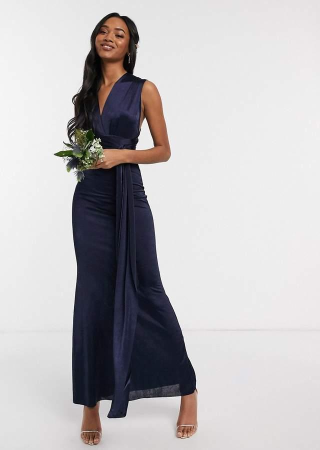 Rochie lunga eleganta de ocazie cu bretele multifunctionale