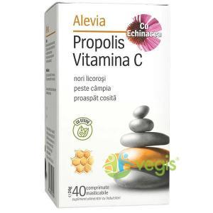 Propolis Vitamina C Cu Echinacea si Stevie 40cpr ALEVIA