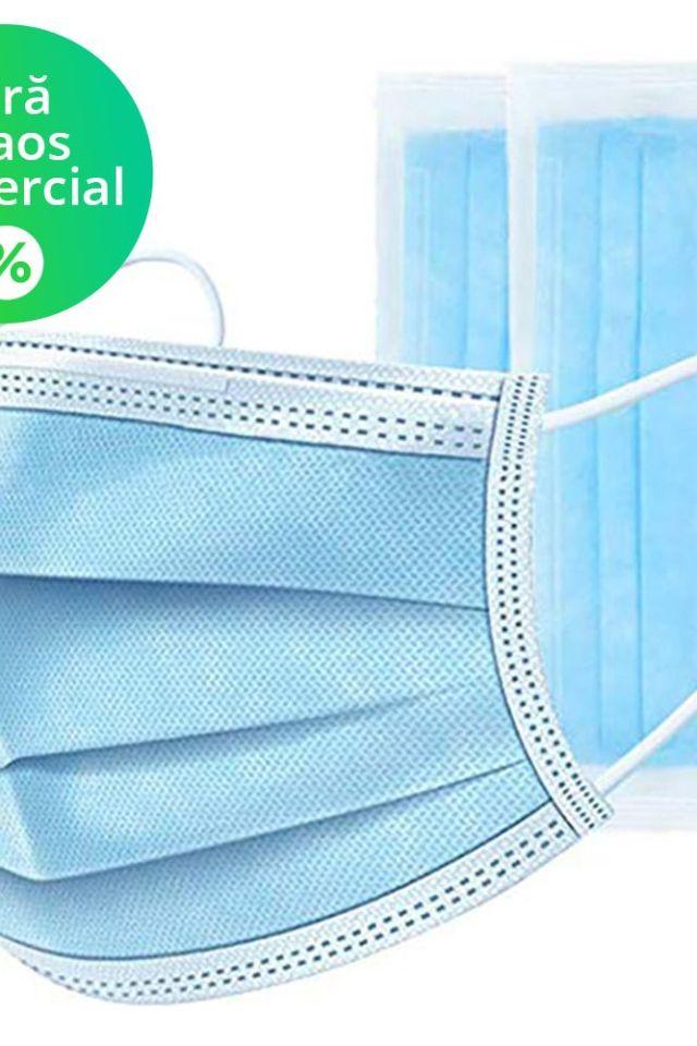 Set 50 bucati Masti de protectie de unica folosinta – produs vandut fara adaos comercial