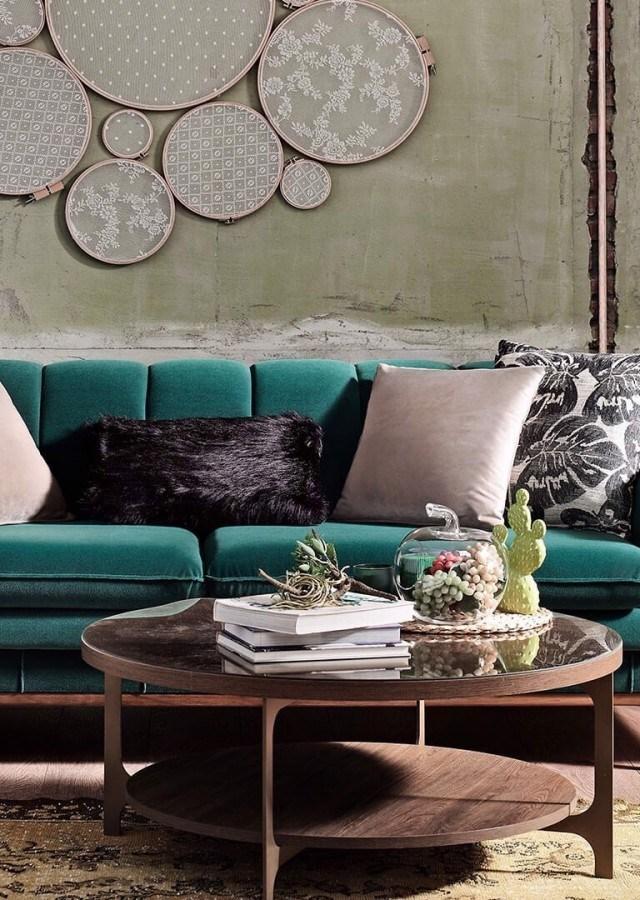 Canapea fixa tapitat cu stofa 3 locuri