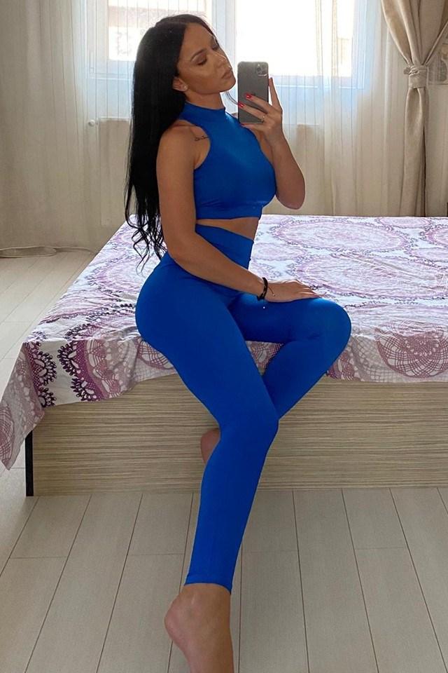 Compleu Fitness din doua piese albastru