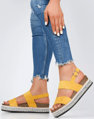 Sandale dama Melides Galbene