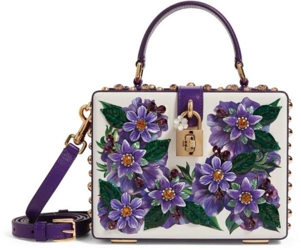 Dolce & Gabbana Padlock Floral Top Handle Bag