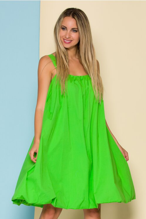 Rochie de vara verde lejera cu bretele late