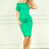 Rochie verde cu mâneci scurte Cindy