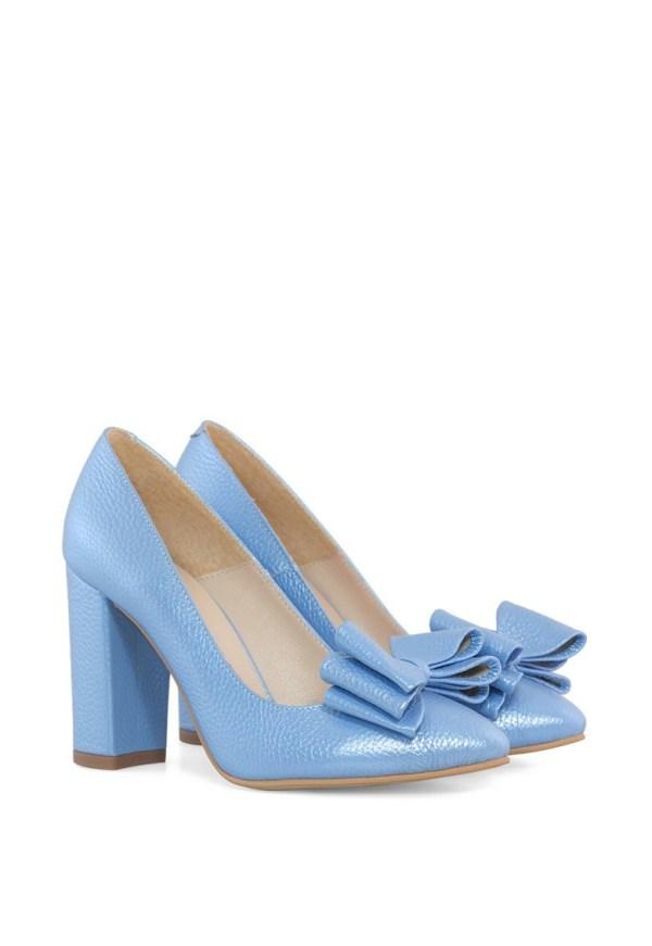 Pantofi din piele cu varf ascutit Simone