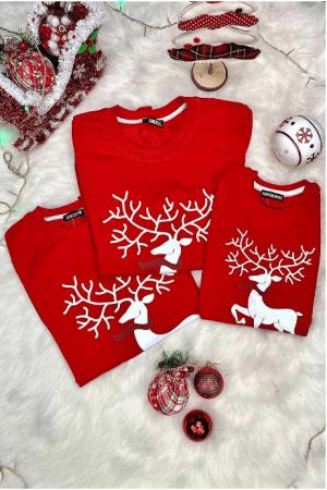 Bluze de Familie - Set Festiv Rosu