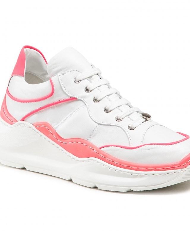 Sneakers dama Alb din piele EVA LONGORIA
